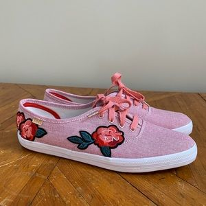 Keds NEW Women's Appliqué Chambray Sneakers 8.5